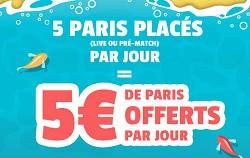 5 euros de bonus chez France Pari