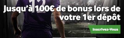 100 euros pour vos paris sportifs chez bookmaker Betway maintenant