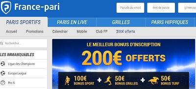 France pari bonus de bienvenue