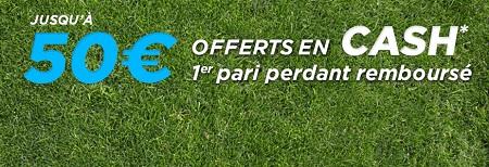 50 euros bonus de cashback chez ParionsSport