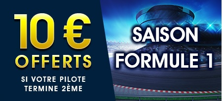 10 € de bonus Formule 1 chez NetBet !