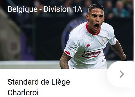 Vos paris sur Standard - Charleroi vous apportent chez betFIRST !