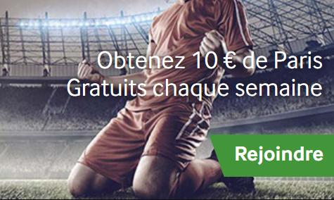 Gagnez les 10 euros de paris gratuits chez Betway pour le foot en ligne