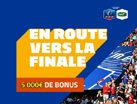 5000 euros de bonus en jeu pour vos mises sur Caen - PSG chez PMU