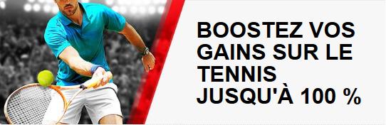 100% de gains supplémentaires sur le tennis chez Betstars