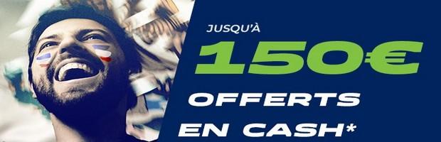 150 euros de bonus durant la Coupe du Monde chez ParionsSport !