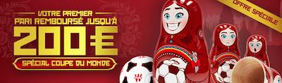 200 euros de bonus Winamax pour vos paris sportifs sur le foot