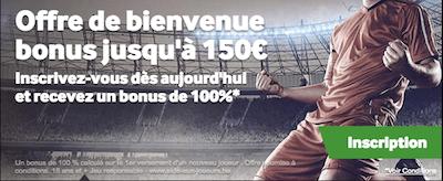 150 euros pour votre premier pari en ligne chez bookmaker Betway