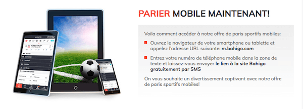 Bahigo parier mobile