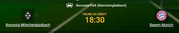 Borussia contre Bayern avec les cotes du bookmaker 1xBet en ligne