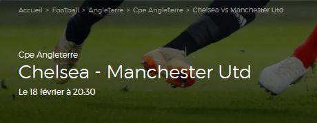 Misez sur Chelsea contre Manchester United en Coupe chez ParionsSport