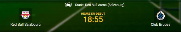 Salzbourg contre Club Bruges en Ligue Europa chez 1xBet en ligne