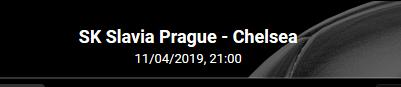 Les cotes pour Prague - Chelsea en Ligue Europa chez Bwin en ligne
