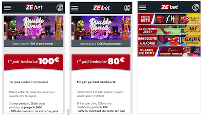 ZEbet promo et bonus