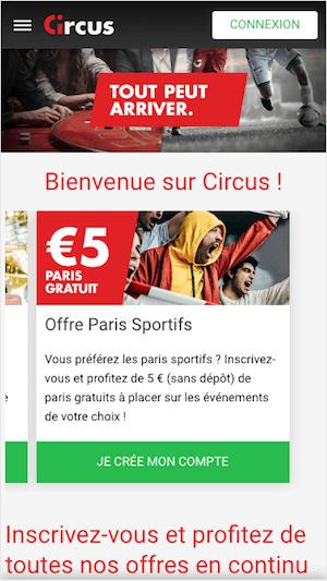 5€ offert circus