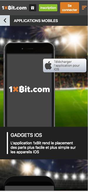 telecharger 1xbit ios apple