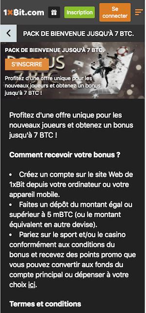 1xbit bonus