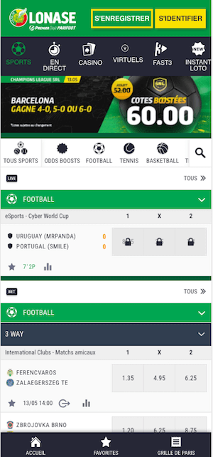 premier bet version mobile