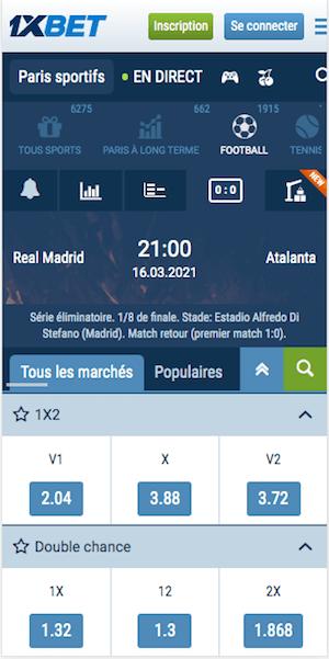 Madrid vs atalanta