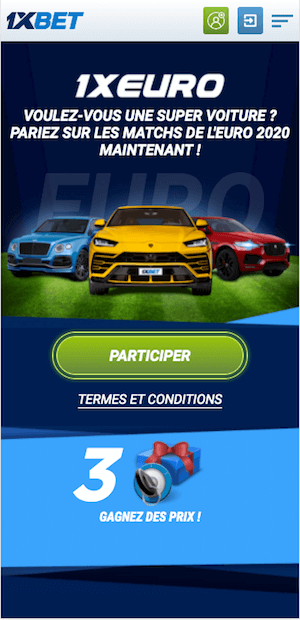 1xbet voiture a gagner