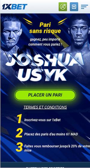 promo cashback Joshua vs Oleksandr Usyk